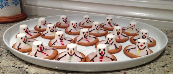 a set of melted frosty snowmen!