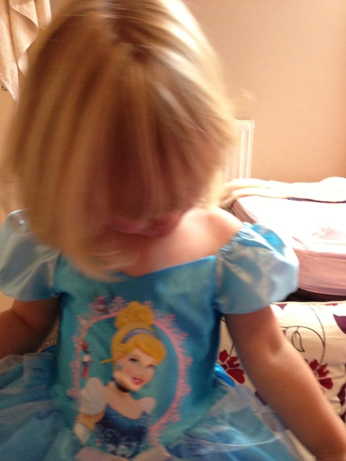 After the wash... Cinderella Princess hair!