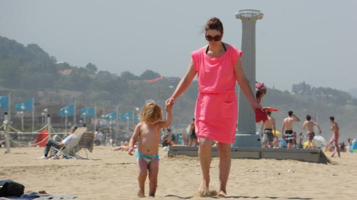 What I did last Summer - walked bravely across hot sand!